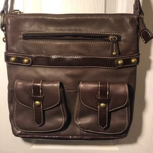 Luce brown soft leather satchel